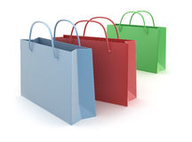Colorful shopping bags isolated on white background Royalty Free Stock Photo