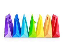 Colorful shopping bags Stock Image