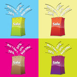 Colorful shopping bags stock illustration