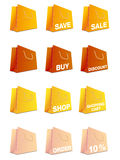 Colorful shopping bags set Royalty Free Stock Photography