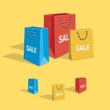 Colorful shopping bags  set Stock Photos
