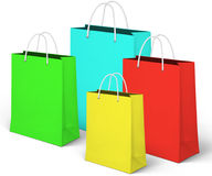 Colorful shopping bags. Royalty Free Stock Photo