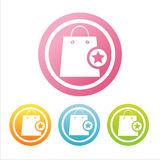 Colorful shopping bags signs Royalty Free Stock Photography