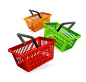 Colorful shopping basket Royalty Free Stock Photography