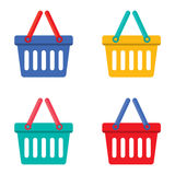 Colorful Shopping Basket Royalty Free Stock Images