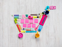 Colorful shopping cart Royalty Free Stock Photos