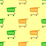 Colorful shopping carts background Stock Photos