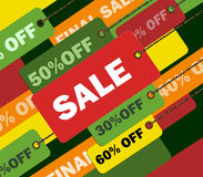 Colorful shopping concept illustration image Royalty Free Stock Photo