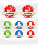 Colorful shopping labels collection Royalty Free Stock Images