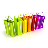 Colorful shopping line Royalty Free Stock Photos