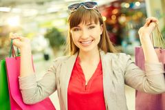 Colorful shopping Stock Photo