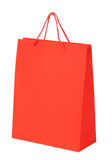 Colorful shopping red bag isolated Stock Photo
