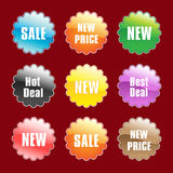 Colorful shopping tags Stock Photos