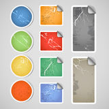 Colorful shopping vintage stickers Stock Images