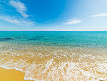 Colorful shore in Costa Rei Royalty Free Stock Photos
