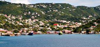 Colorful shore line of st. thomas Royalty Free Stock Images