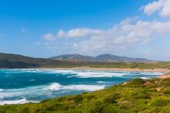 Colorful shore in Porto Ferro Stock Images