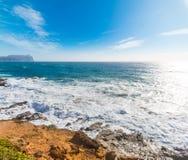 Colorful shore in Porto Ferro Royalty Free Stock Photography