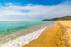 Colorful shore in Solanas beach Royalty Free Stock Image