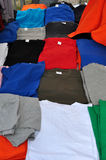 Colorful short sleeve t-shirts Royalty Free Stock Images