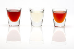 Colorful shot drinks Royalty Free Stock Photo