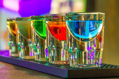Colorful shot drinks Stock Image