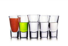 Colorful shot drinks Royalty Free Stock Images