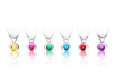 Colorful Shot Glasses Stock Images