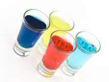 Colorful Shot Glasses Royalty Free Stock Photo