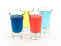 Colorful Shot Glasses Royalty Free Stock Images