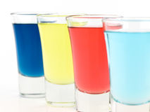 Colorful Shot Glasses Stock Image