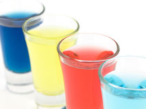 Colorful Shot Glasses Royalty Free Stock Photography