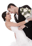 Colorful Shot Of A Bride And Groom Stock Photography