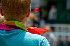 Colorful shot in the symbolic colors of gay rights Stock Photography