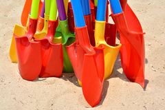 Colorful shovel as Kid's toy Royalty Free Stock Photo
