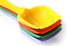 Colorful shovels Royalty Free Stock Photos
