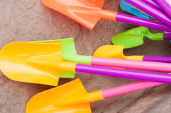 Plastic shovels Royalty Free Stock Image