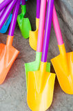 Plastic shovels Stock Images