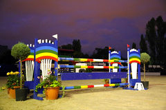 Colorful show jumping barrier for riders Royalty Free Stock Photos