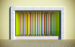 Colorful showcase. 3D illustration of colorful showcase Royalty Free Stock Photography