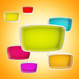 Colorful showcase boxes abstract background Royalty Free Stock Photography