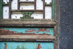 Colorful shutter, China. A colorful window detail of an old building in China Royalty Free Stock Photography