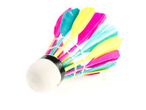 Colorful shuttlecock. On white background Royalty Free Stock Image
