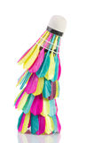 Colorful shuttlecock. On white background Royalty Free Stock Photography