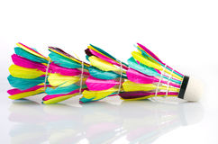 Colorful shuttlecock Royalty Free Stock Image