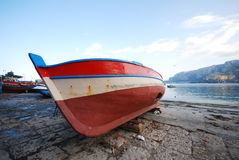 Colorful Sicilian Boat Stock Image