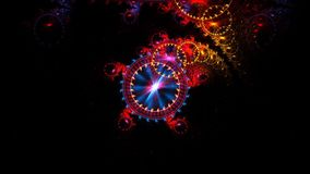 Colorful sideral clock moving in space stock video footage