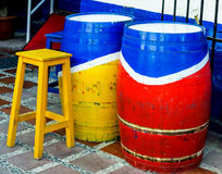 Colorful sidewalk bodega in old town of Marbella, Spain Royalty Free Stock Images