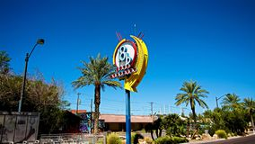 A colorful sign at arts district in downtown Las Vegas. royalty free stock photos