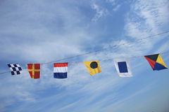 Colorful signal flags Royalty Free Stock Image